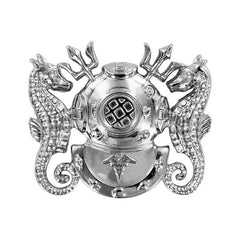 Navy Badge: Diving Medical Technician - regulation size, mirror finish