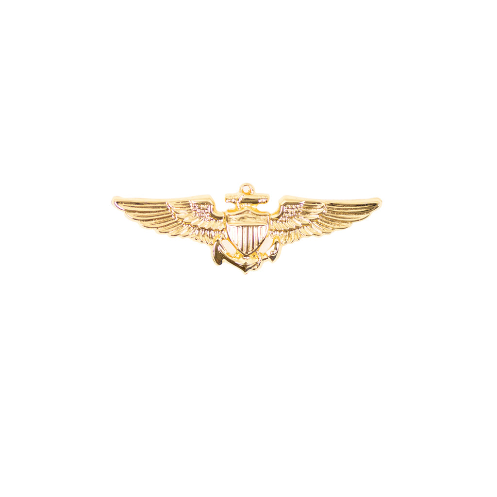 Navy Badge: Aviator - miniature, mirror finish