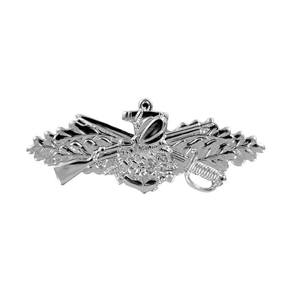 Navy Badge: Seabee Combat Warfare Specialist Enlisted - miniature mirror finish