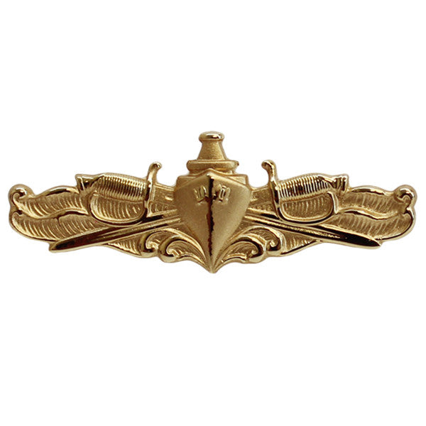 Navy Badge: Surface Warfare Officer - miniature, mirror finish