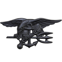 Navy Badge: Special Warfare - regulation black metal (NON-RETURNABLE/NON-REFUNDABLE)