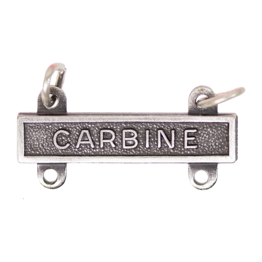 Army Qualification Bar: Carbine - silver oxidized finish