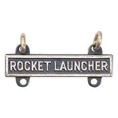 Army Qualification Bar: Rocket Launcher - silver oxidized finish