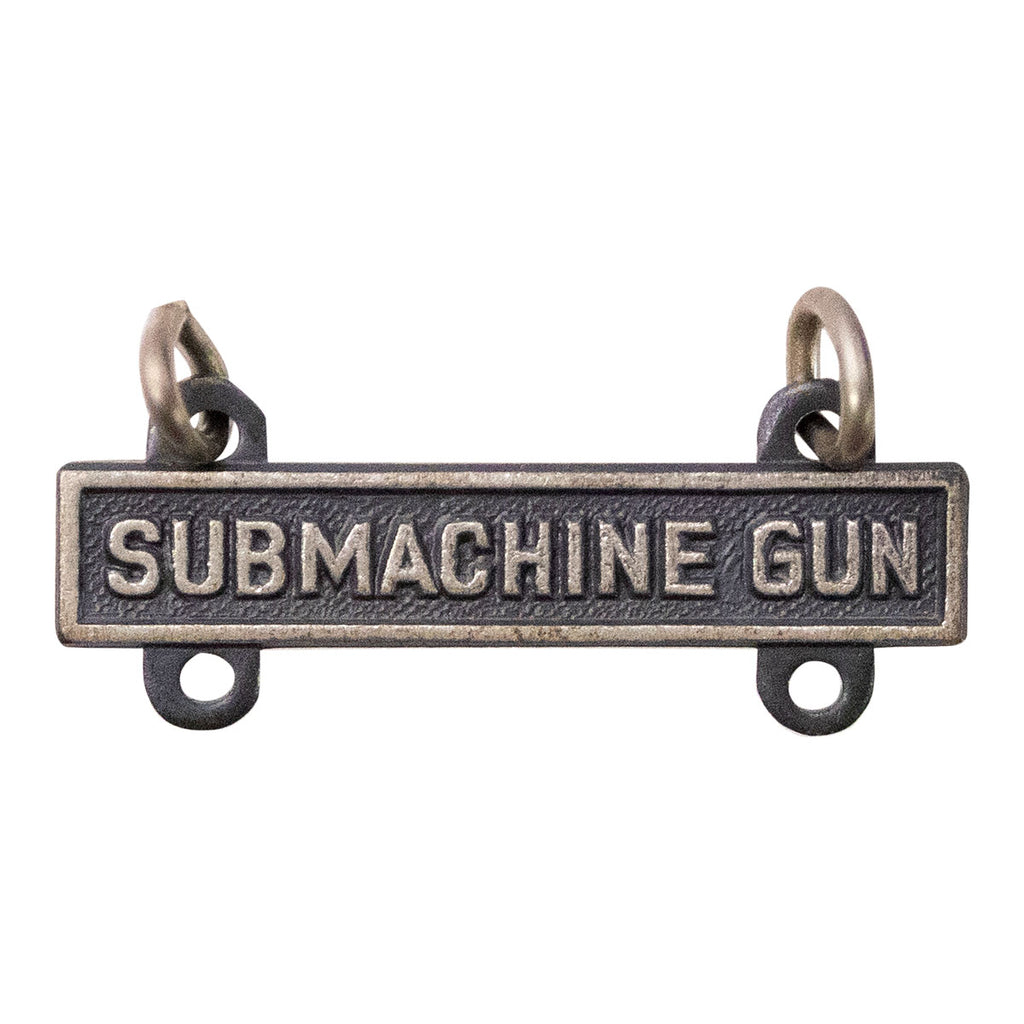 Army Qualification Bar: Submachine Gun - silver oxidized finish