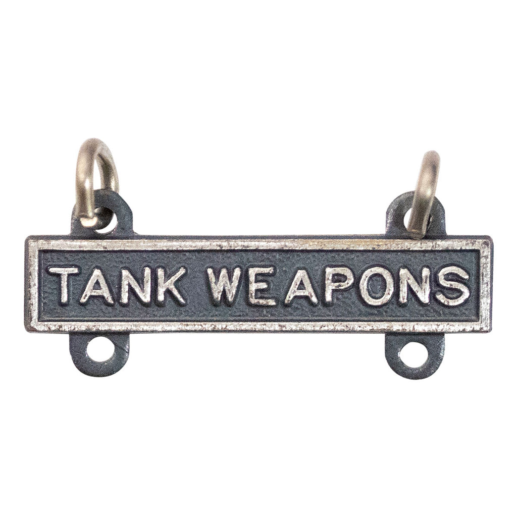 Army Qualification Bar: Tank Weapons - silver oxidized finish