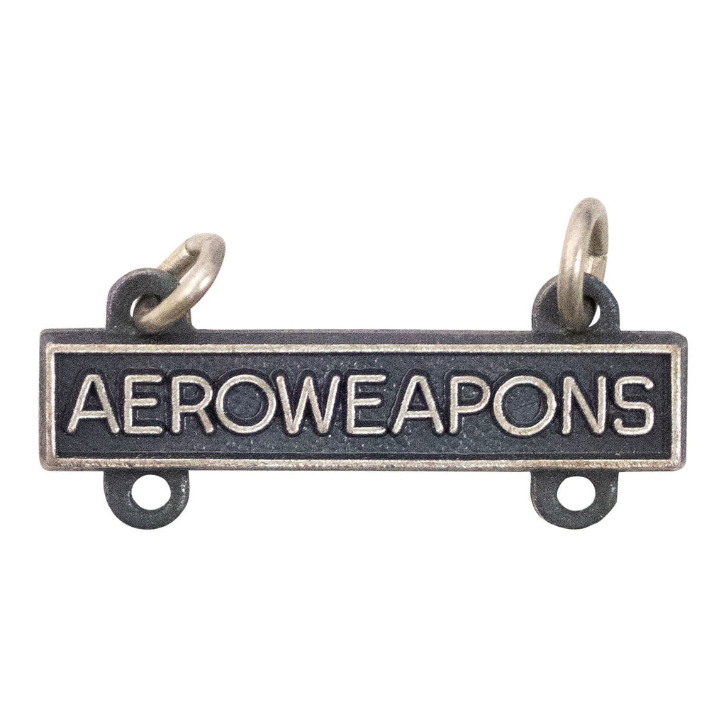 Army Qualification Bar: Aero Weapons - silver oxidized finish