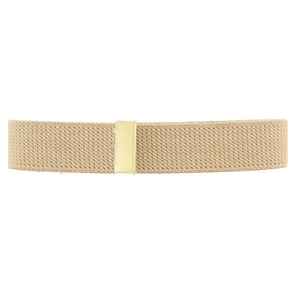 ROTC Belt: Khaki Cotton Belt with Brass Tip - male