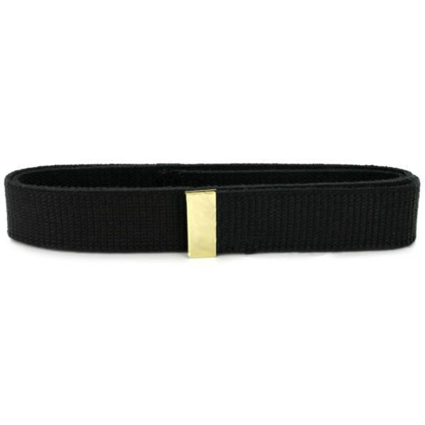 Belt: Black Cotton with Brass Tip - male