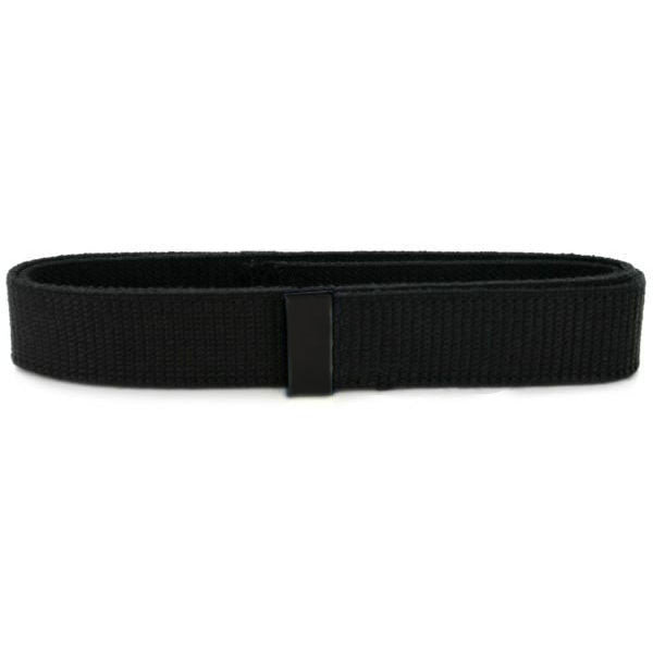 Navy Belt: Black Cotton with Seabee Black Tip - male