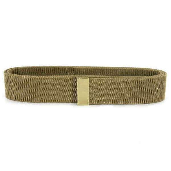 Navy Belt: Khaki Nylon with Brass Tip - male