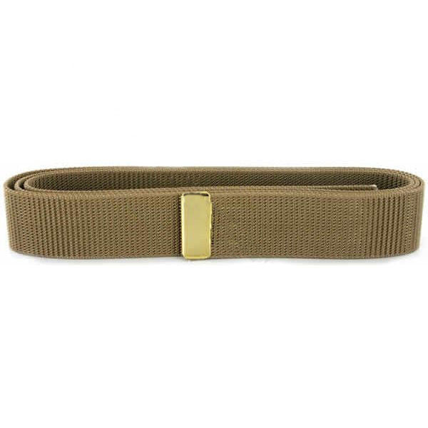 Navy Belt: Khaki Nylon with 24k Gold Tip - male