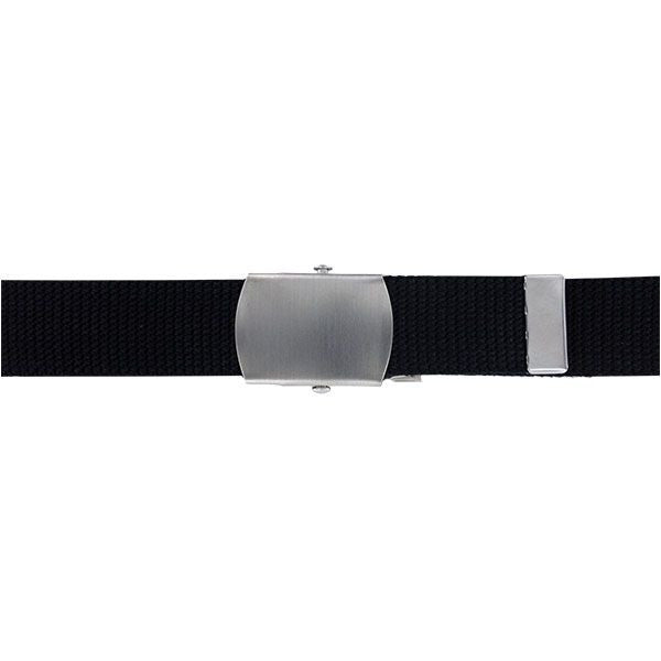 Coast Guard Auxiliary Belt: Cotton Web with Satin Silver Buckle and Tip
