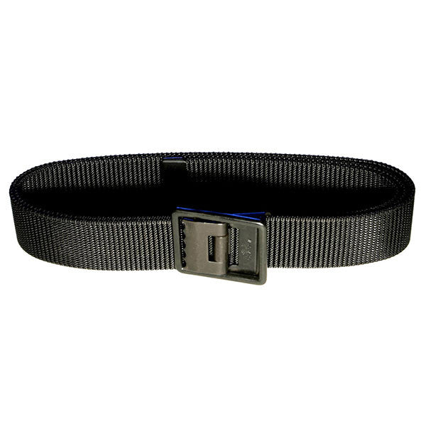 Navy Belt and Buckle: Black Nylon Seabee Black Buckle and Tip - male