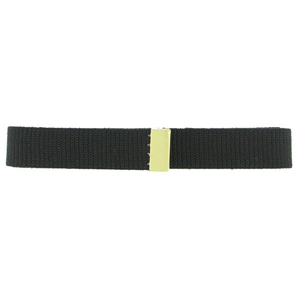 Belt: Black Cotton with Brass Tip - female