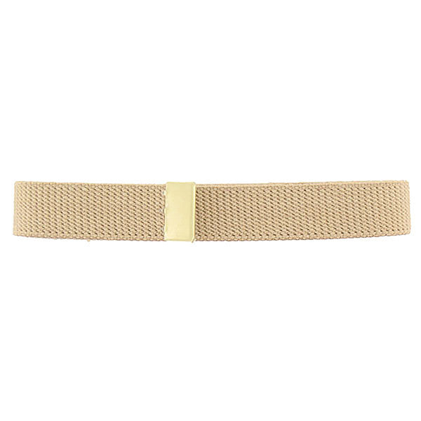 Belt: Khaki Cotton with Brass Tip - female