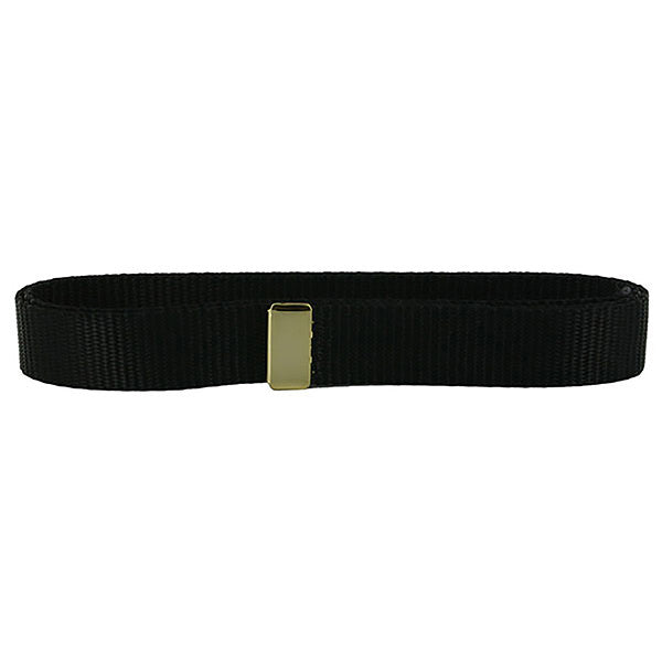 Navy Belt: Black Nylon with 24K Gold Tip - female