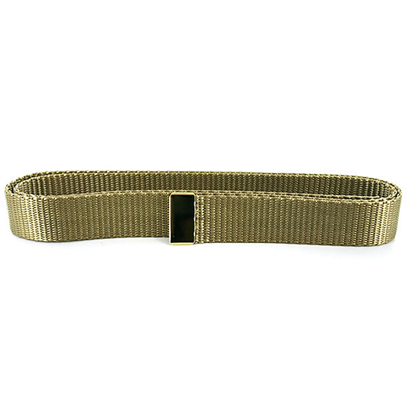 Navy Belt: Khaki Nylon with 24K Gold Tip - female