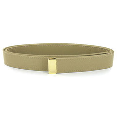 Navy Belt: Khaki CNT with 24K Gold Tip - female