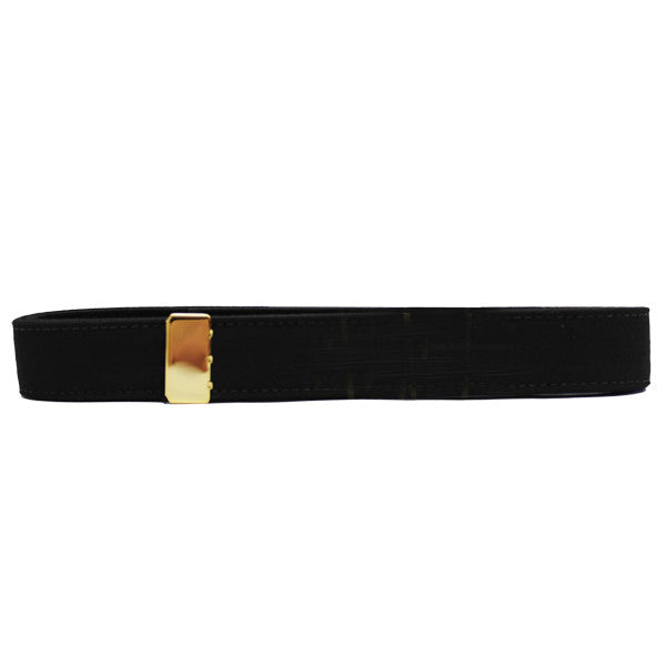 Navy Belt: Black Poly-Wool with 24K Gold Tip - female