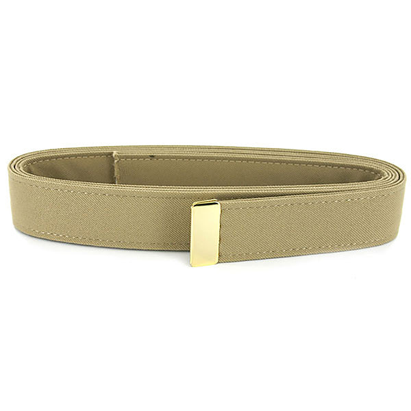 Navy Belt: Khaki Poly-Wool with 24K Gold Tip - female