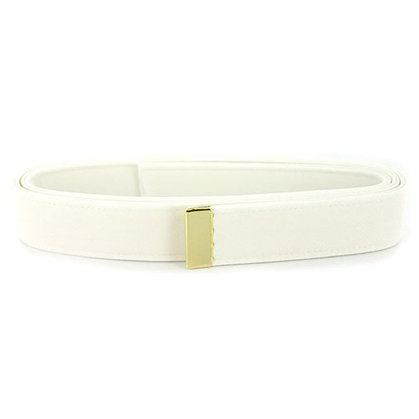 Navy Belt: White CNT with 24k Gold Tip - male