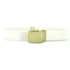 USNSCC / NLCC  Belt and Buckle: White CNT with 24k Gold Buckle and Tip - female