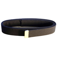 Navy Belt: Black Poly-Wool with 24k Gold Tip - male