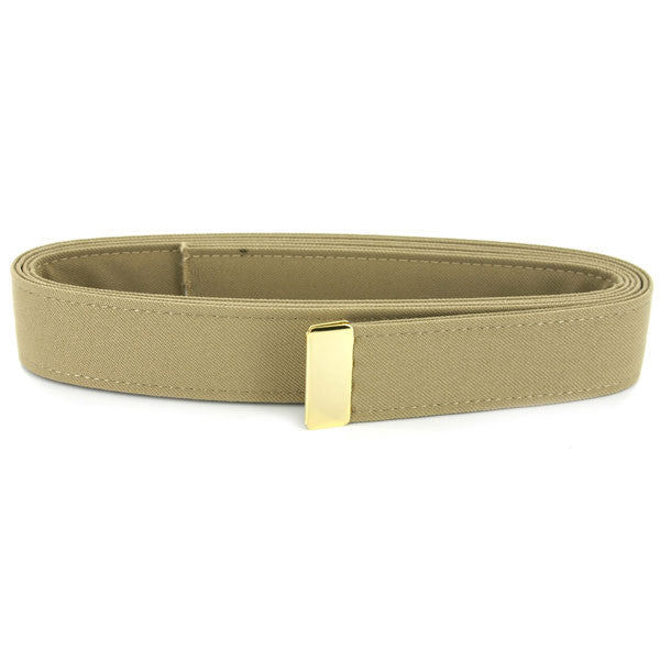 Navy Belt: Khaki Poly-Wool with 24k Gold Tip - male