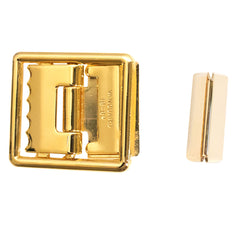 Marine Corps Belt Buckle and Tip: 24K Gold Plated Open Face