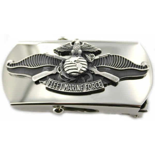Navy Belt Buckle: Enlisted Fleet Marine Force