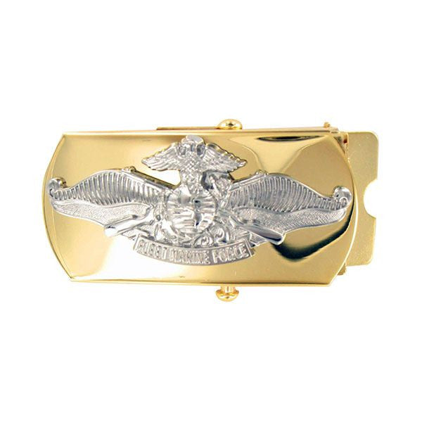 Navy Belt Buckle: Fleet Marine Force CPO - gold and silver