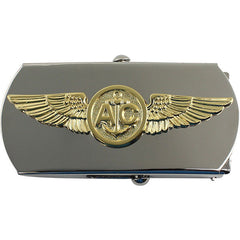 Navy Belt Buckle: Air Crew Enlisted - silver and gold