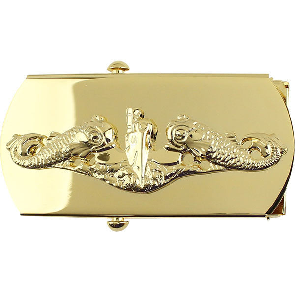 Navy Belt Buckle: Submarine Officer