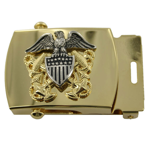 Navy Belt Buckle: Officer - High Relief Emblem