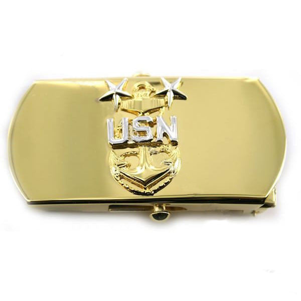 Navy Belt Buckle: E9 Chief Petty Officer: Master