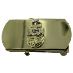 Navy Belt Buckle: E8 Chief Petty Officer: Senior