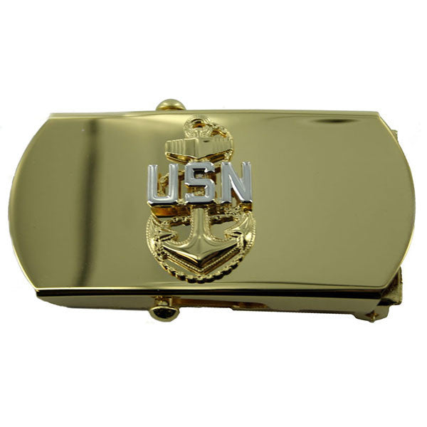 Navy Belt Buckle: E7 Chief Petty Officer