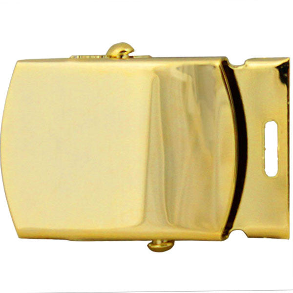 Belt Buckle: Gold Buckle and Tip