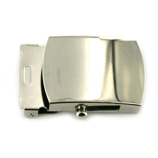 Navy Belt Buckle: Silver Mirror - female