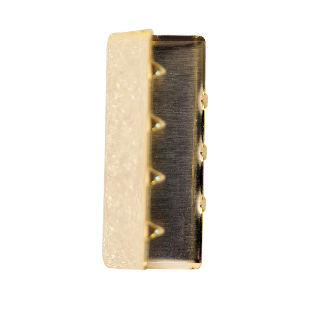 Navy Belt Tip: 24k Gold - male