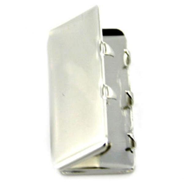 Navy Belt Tip: Silver Mirror - female