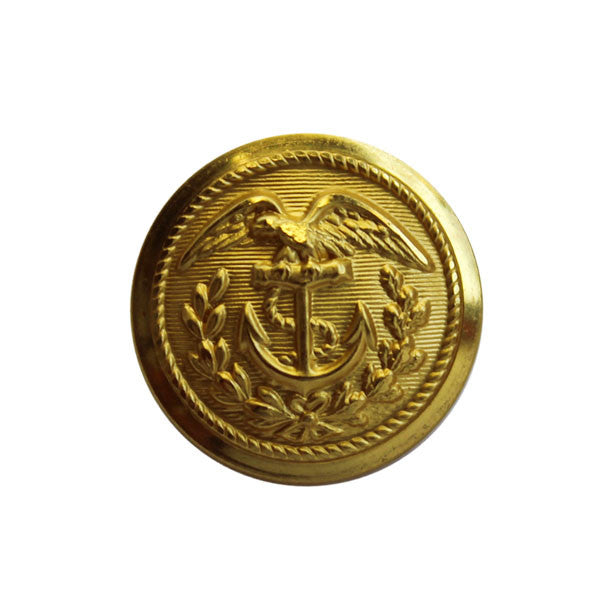 Coast Guard Button: 28 Ligne Gold