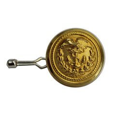 Coast Guard Button: 35 Ligne Gold with bodkin