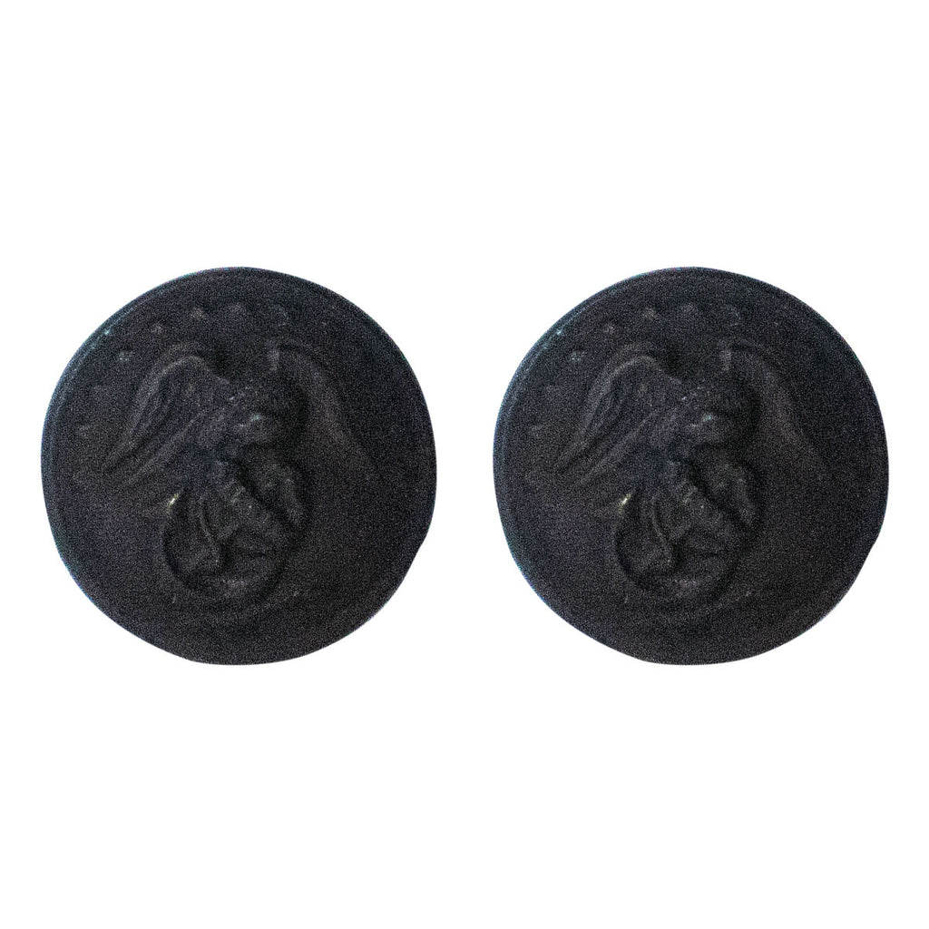 Marine Corps Button: 27 Ligne Screw Back - black buttons