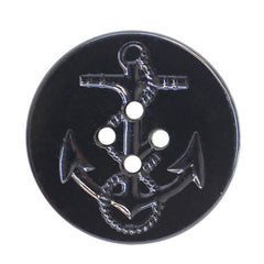 Navy Button: P-Coat Black Plastic