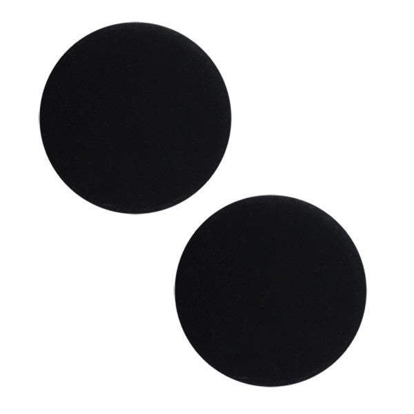 Navy Button - Screw Back Flat Black with Tubes