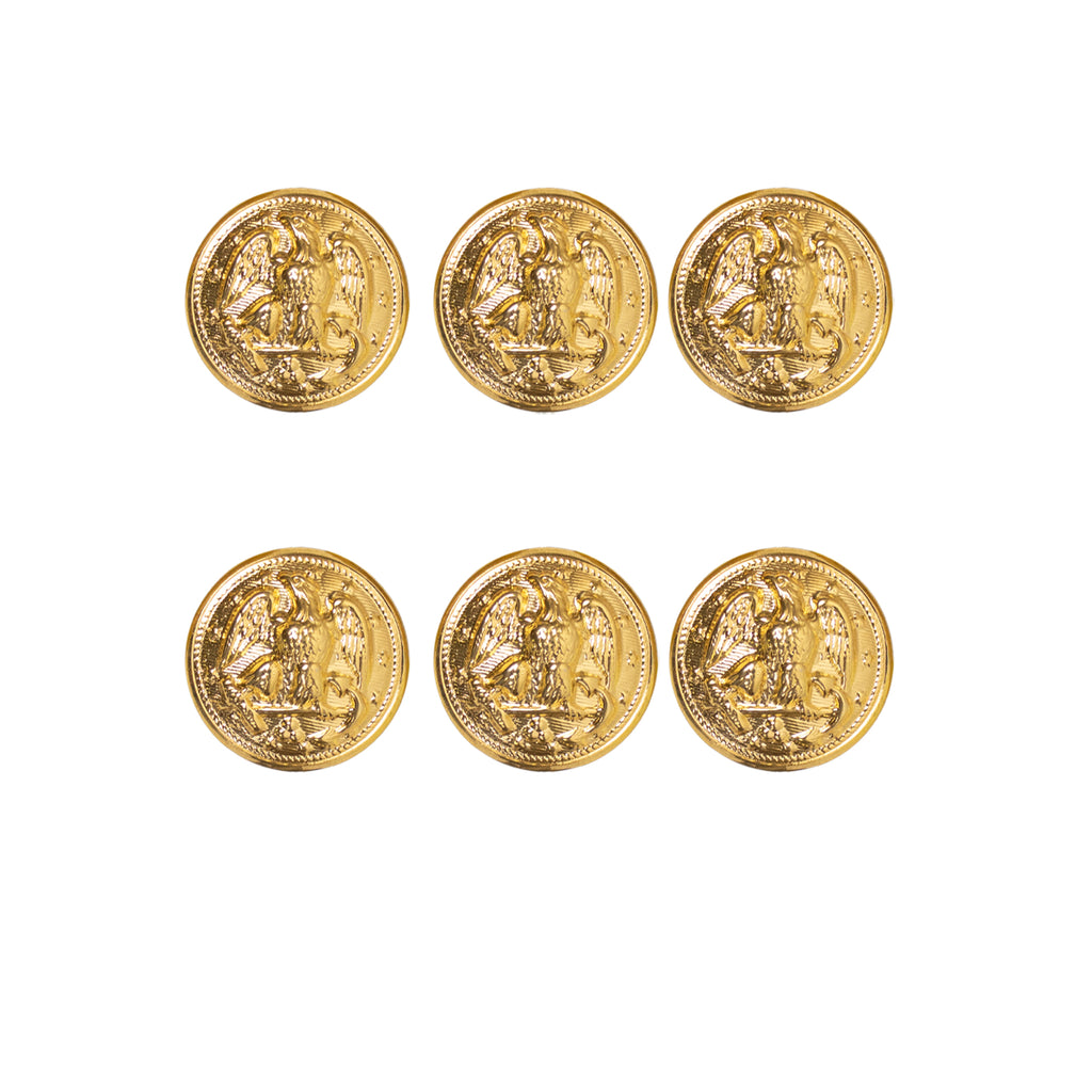 Navy Button Set with Bodkin Hopper Back - set of 6-35 Ligne