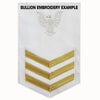 Navy E6 Rating Badge: Gunner's Mate - white