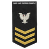 Navy E6 Rating Badge: Aviation Antisub Warfare Operator - blue
