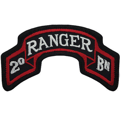 Army Scroll Patch: Second Ranger Battalion - color